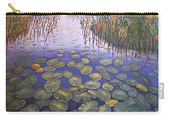 Carry-all Pouch featuring the painting Waterlillies South Africa by Karen Zuk Rosenblatt