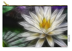 Carry-all Pouch featuring the digital art Waterlily In Pseudo-fractal by Lynne Jenkins