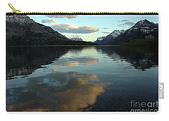 Carry-all Pouch featuring the photograph Waterton Lake Sunset Canada by Vivian Christopher