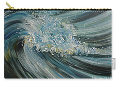 Carry-all Pouch featuring the painting Wave Whirl by Julie Brugh Riffey