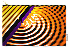 Waves Two Slit 2 Carry-all Pouch by Russell Kightley