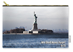 Carry-all Pouch featuring the photograph We Shall Never Forget - 9/11 by Mark Madere