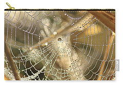 Carry-all Pouch featuring the photograph Web Of Jewels by Penny Meyers