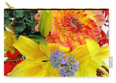 Carry-all Pouch featuring the photograph Wedding Flowers by Rory Sagner