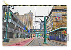 Carry-all Pouch featuring the photograph Welcome To Dt Buffalo by Michael Frank Jr
