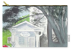 Carry-all Pouch featuring the painting Wellers Carriage House 1 by Yoshiko Mishina