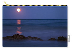 Wells Beach Maine Moonrise Carry-all Pouch