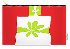 Welsh Merry Christmas Red Carry-all Pouch by Barbara Moignard