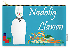 Welsh Snowman Chef Carry-all Pouch by Barbara Moignard