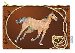 Western Roundup Running Horse Carry-all Pouch