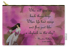 When Life Had Wings Carry-all Pouch by Patricia Griffin Brett