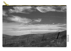 Carry-all Pouch featuring the photograph Whipping Up The Hillside by Kathleen Grace