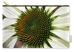 Carry-all Pouch featuring the photograph White Coneflower Daisy by Donna Corless