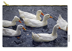 White Ducks Carry-all Pouch