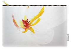 White Flower Carry-all Pouch by Kume Bryant