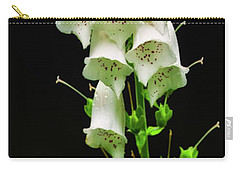Carry-all Pouch featuring the photograph White Foxglove by Albert Seger