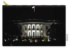 Carry-all Pouch featuring the photograph White House In December by Suzanne Stout