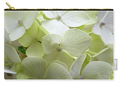 White Hydrangea Carry-all Pouch