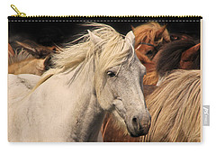 White Icelandic Horse Carry-all Pouch
