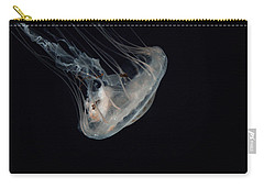 White Jelly In Black Space Carry-all Pouch