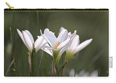 Carry-all Pouch featuring the photograph White Lily - Symbol Of Purity by Ramabhadran Thirupattur