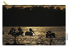 Carry-all Pouch featuring the photograph White Pelican Evening by Dan Friend