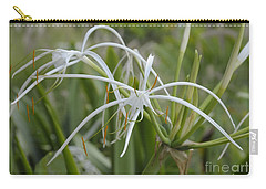White Spider Orchid Carry-all Pouch
