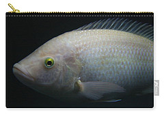 White Tilapia With Yellow Eyes Carry-all Pouch
