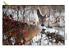Whitetail Deer In Snow Carry-all Pouch