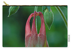 Carry-all Pouch featuring the photograph Wild Columbine Flower by Daniel Reed