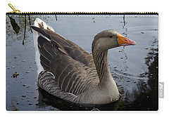Wild Greylag Goose Carry-all Pouch by Lynn Palmer