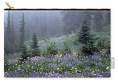 Wildflower Meadow Mt Rainier Carry-all Pouch
