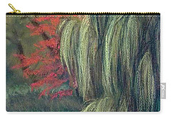 Carry-all Pouch featuring the drawing Willow Tree - Hidden Lake Gardens -tipton Michigan by Yoshiko Mishina