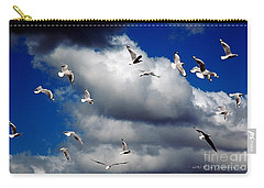 Carry-all Pouch featuring the photograph Wind Sailing Seagulls by Vicki Ferrari