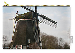 Carry-all Pouch featuring the digital art Windmill In Amsterdam by Carol Ailles
