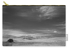 Carry-all Pouch featuring the photograph Windmills In The Distant Hills by Kathleen Grace