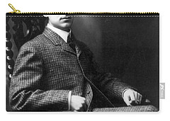 Carry-all Pouch featuring the photograph Winston Churchill - C 1900 by International  Images
