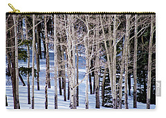 Carry-all Pouch featuring the photograph Winter Aspens by Colleen Coccia