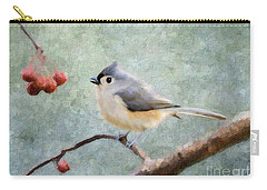 Winter Berries Carry-all Pouch by Betty LaRue