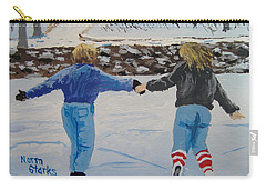 Carry-all Pouch featuring the painting Winter Fun by Norm Starks