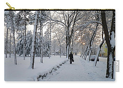 Carry-all Pouch featuring the photograph Winter In Mako by Anna Ruzsan