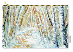 Carry-all Pouch featuring the painting Winter by Shana Rowe Jackson