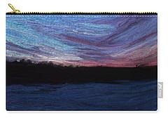 Carry-all Pouch featuring the digital art Winter Sunset by Lauren Radke
