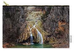 Winter Time At The Falls Carry-all Pouch by Doug Long