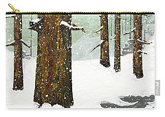 Wintering Pines Carry-all Pouch