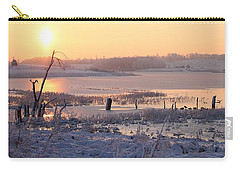 Carry-all Pouch featuring the photograph Winter's Morning by Elizabeth Winter