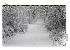 Carry-all Pouch featuring the photograph Winter's Trail by Elizabeth Winter