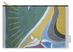 Carry-all Pouch featuring the painting Wisdom And Peace by Sonali Gangane
