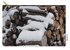 Carry-all Pouch featuring the photograph Wood Pile by Tiffany Erdman