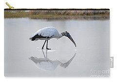 Carry-all Pouch featuring the photograph Wood Stork Eating by Dan Friend